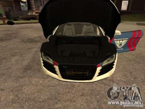 Audi R8 Police Indonesia para la visión correcta GTA San Andreas