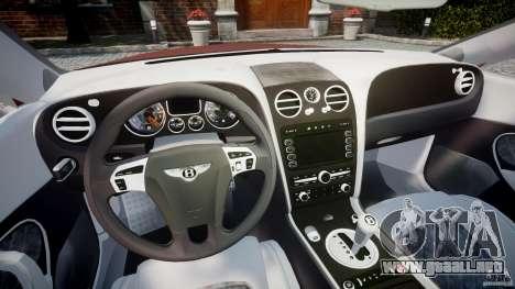 Bentley Continental SS v2.1 para GTA 4 vista hacia atrás