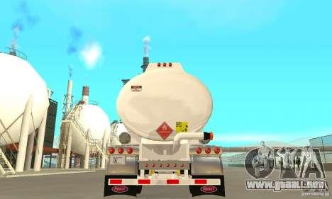 Peterbilt 379 Custom And Tanker Trailer para la vista superior GTA San Andreas