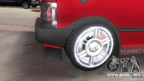 Fiat Uno Turbo para GTA Vice City vista lateral izquierdo