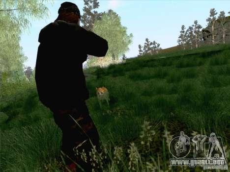 Hunting Mod para GTA San Andreas sucesivamente de pantalla