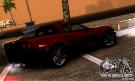 Chevrolet Corvette Z06 para visión interna GTA San Andreas