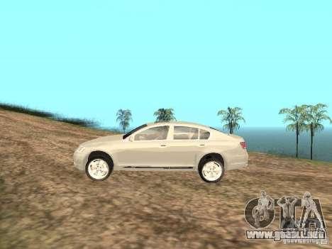 Lexus GS-350 para GTA San Andreas left