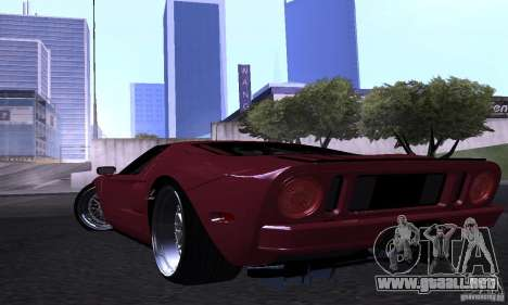 Ford GT 2005 para la vista superior GTA San Andreas