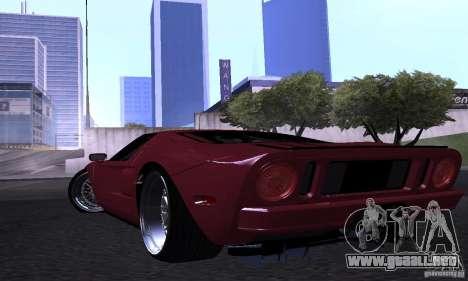 Ford GT 2005 para la vista superior GTA San Andreas