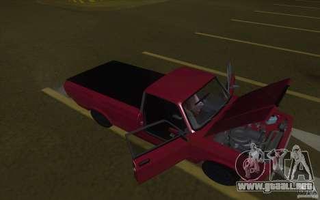 Lada 2107 Street Racing para GTA San Andreas vista posterior izquierda