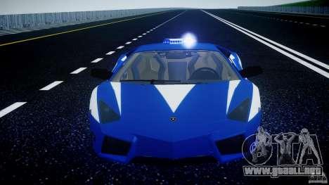 Lamborghini Reventon Polizia Italiana para GTA motor 4