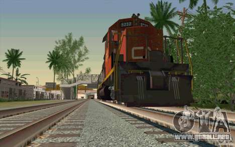 CN SD40 ZEBRA STRIPES para la vista superior GTA San Andreas