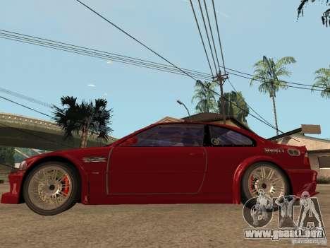 BMW M3 GTR Le Mans para GTA San Andreas left