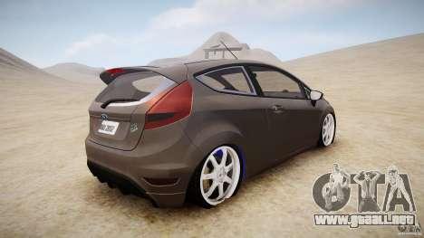 Ford Fiesta 2012 para GTA 4 Vista posterior izquierda