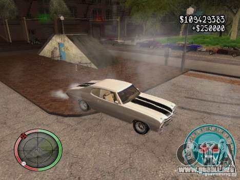 Skul Speedometer para GTA San Andreas quinta pantalla