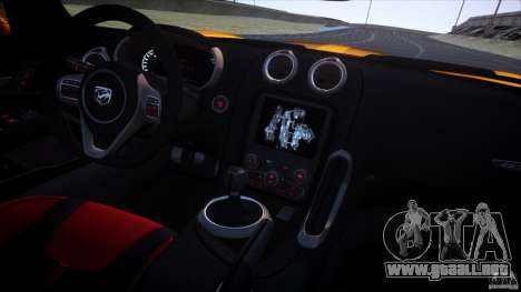 Dodge Viper GTS 2013 v1.0 para GTA 4 vista superior