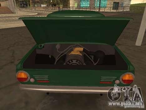 ZAZ 968 de drenaje para GTA San Andreas vista hacia atrás