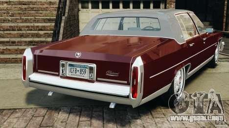 Cadillac Fleetwood Brougham Delegance 1986 para GTA 4 visión correcta