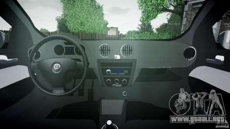 Volkswagen Voyage Comfortline para GTA 4 vista hacia atrás