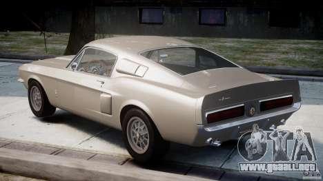 Shelby GT500 1967 para GTA 4 Vista posterior izquierda