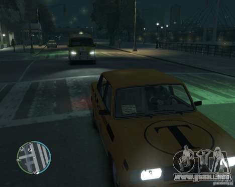 VAZ 2105 Taxi para GTA 4 Vista posterior izquierda