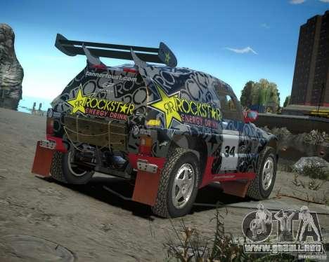 Mitsubishi Pajero Proto Dakar EK86 vinilo 1 para GTA 4 visión correcta
