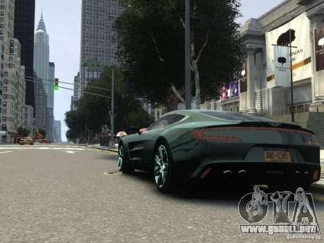 Aston Martin One 77 2012 para GTA 4 visión correcta