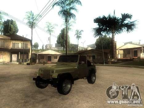 Jeep Wrangler 1986 4.0 Fury v.3.0 para GTA San Andreas