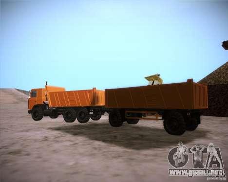 Trailer de MAZ 6317 para GTA San Andreas