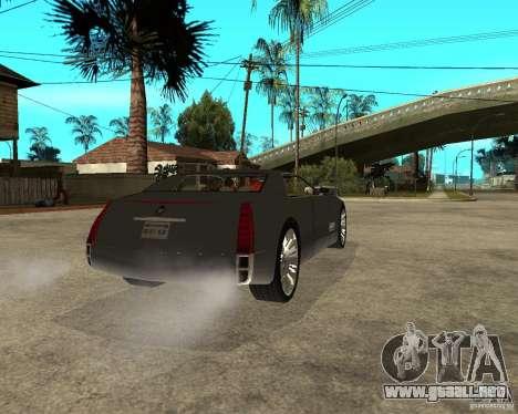 Cadillac Sixteen para GTA San Andreas vista posterior izquierda