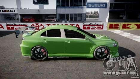 Mitsubishi Lancer Evolution X Tuning para GTA 4 left