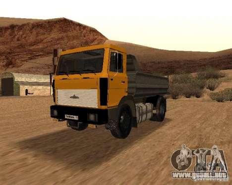 5551 MAZ camión para visión interna GTA San Andreas