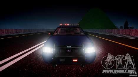 Ford Crown Victoria Homeland Security [ELS] para GTA 4 interior
