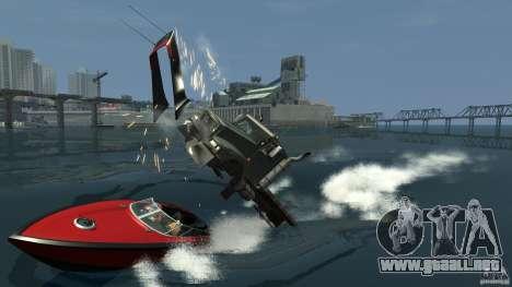 Biff boat para GTA 4 vista hacia atrás