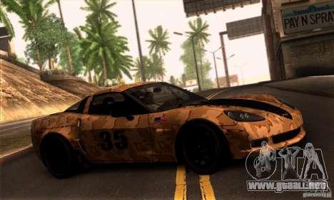 Chevrolet Corvette Z06 para vista inferior GTA San Andreas