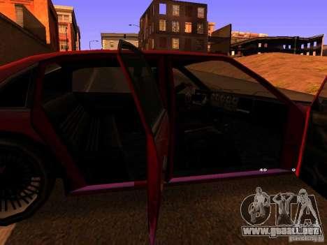 Emperor GT para GTA San Andreas vista posterior izquierda