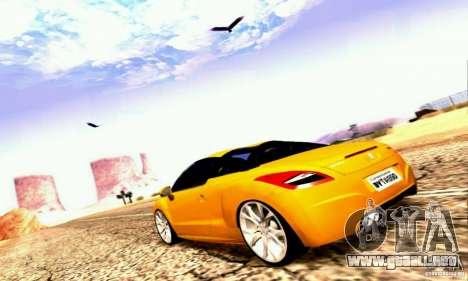 Peugeot Rcz 2011 para vista inferior GTA San Andreas