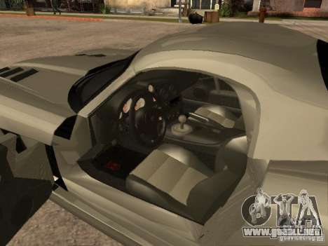 Dodge Viper Coupe 2008 para GTA San Andreas vista posterior izquierda