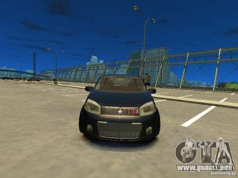 Fiat Novo Uno Sporting para GTA 4 vista hacia atrás