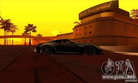 Nissan 370z Drift Edition para GTA San Andreas vista hacia atrás