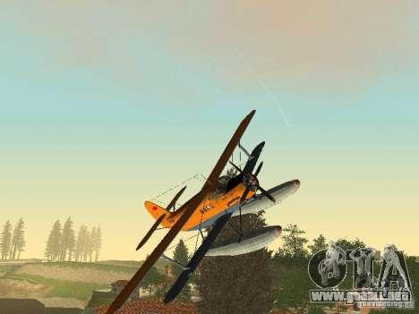 An-2V para GTA San Andreas vista hacia atrás