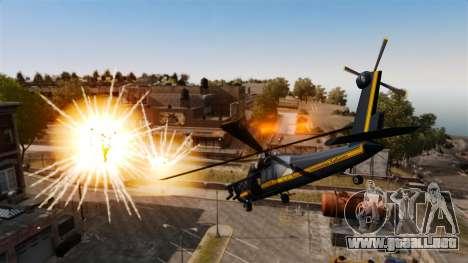 Un helicóptero con un RPG para GTA 4 Vista posterior izquierda