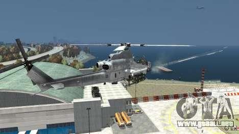 Bell AH-1Z Viper para GTA 4 vista hacia atrás