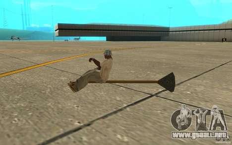 Flying Broom para GTA San Andreas vista posterior izquierda