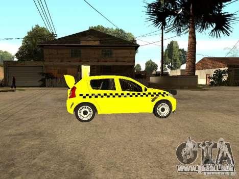 Dacia Sandero Speed Taxi para la visión correcta GTA San Andreas
