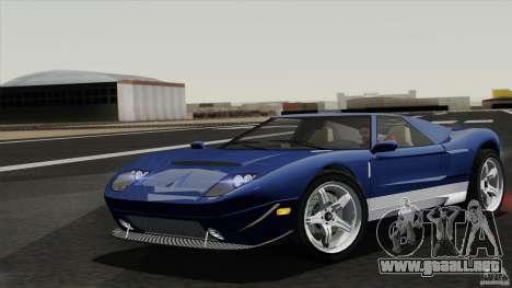 Bullet GT from TBOGT para GTA San Andreas vista hacia atrás