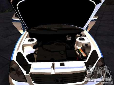 LADA 2170 policía para la visión correcta GTA San Andreas