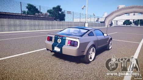 Shelby GT500kr para GTA 4 vista superior