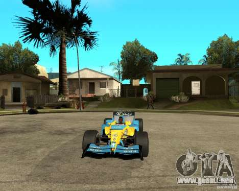 Renault F1 para GTA San Andreas vista hacia atrás