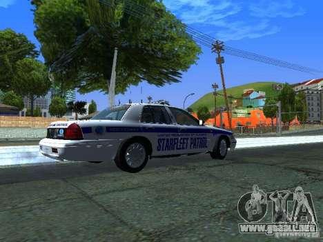 Ford Crown Victoria Police Interceptor 2008 para GTA San Andreas vista posterior izquierda