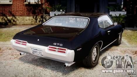Pontiac GTO Judge para GTA 4 Vista posterior izquierda