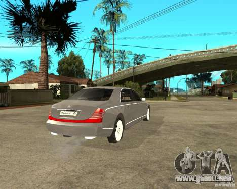 Maybach 62 para GTA San Andreas