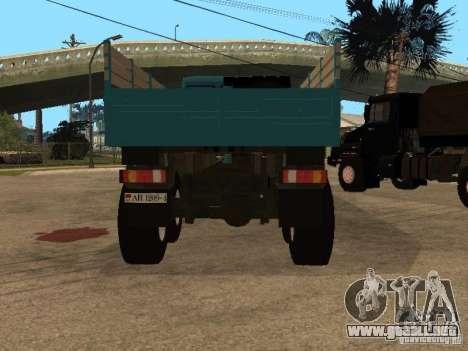KAMAZ-4355 para GTA San Andreas vista hacia atrás