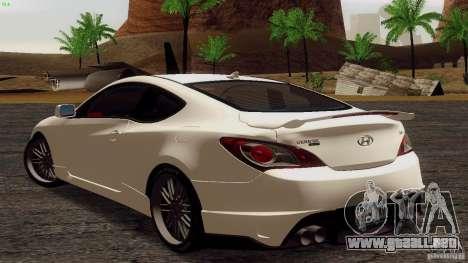 Hyundai Genesis Tunable para la visión correcta GTA San Andreas